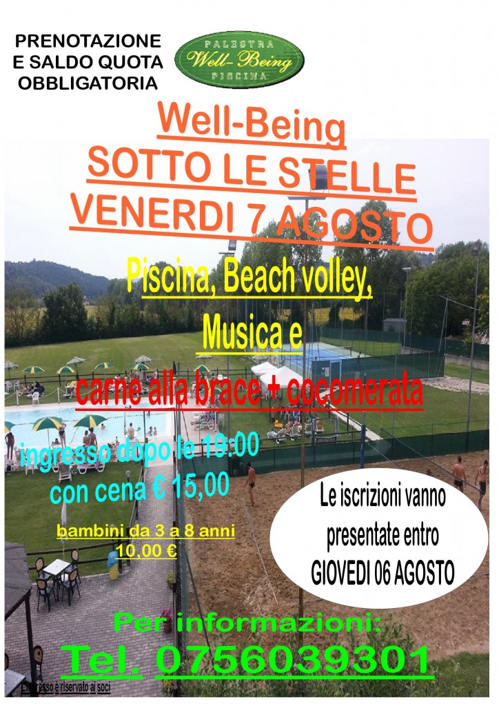 well being sotto le stelle 2020